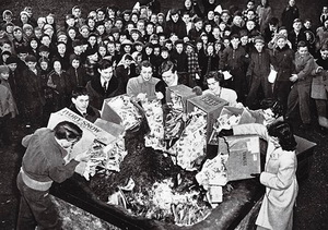 1948 Binghamton NY Comic Book Burning - Click for Bigger Image in a New Page