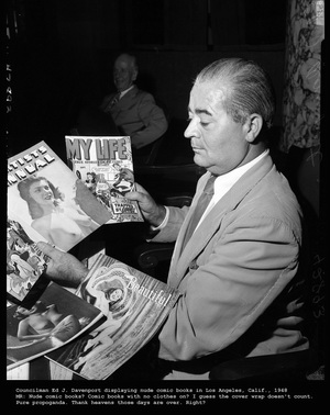 1948 Los Angeles Comic Book Press Conference - Click for Bigger Image in a New Page
