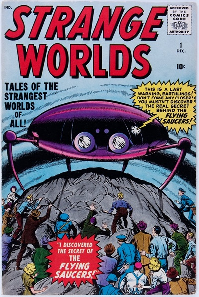 1958 - Strange Worlds #1 - Click for Bigger Image in a New  Page